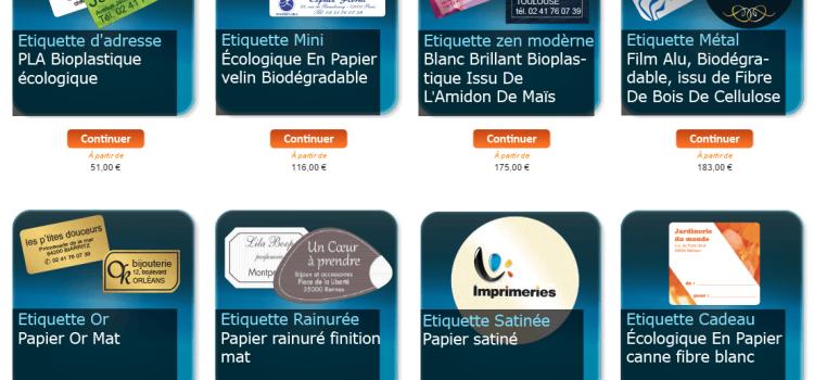 New : Modèle d'étiquette à personnaliser sur internet et à commander